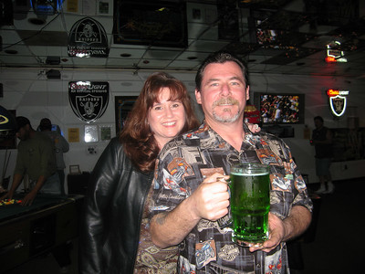 Green beer on St. Patricks day!!