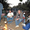 Cooking their huge marshmellows they found at a Mexican market